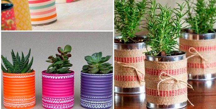 Te enseñamos como hacer macetas decorativas con latas de casa