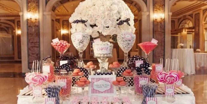 Ideas para la mesa de postre en tu boda