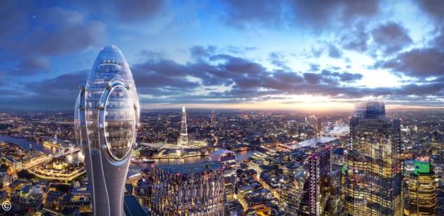 La Torre Tulipán de Foster + Partners está lista para su aprobación en Londres