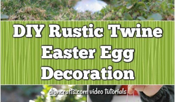 Decoración de huevos de Pascua con hilo rústico