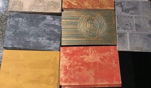 Diseños de tendencia de la pintura en pared simple