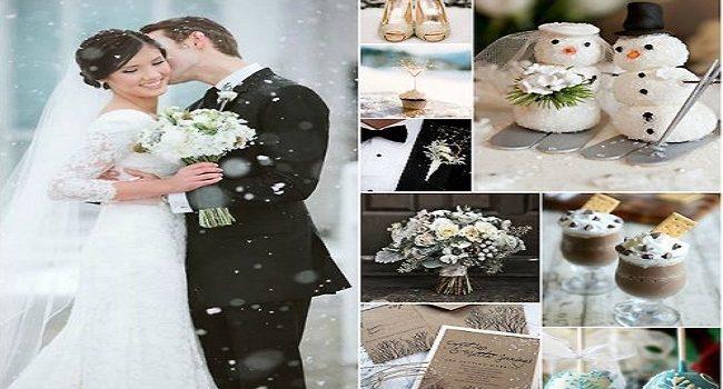 Decoraciones de boda en invierno, ideas simples y baratas