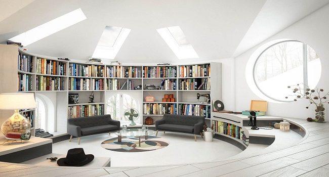 Aprovecha los espacios para una biblioteca en casa