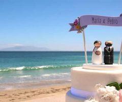 Pastel de boda para la playa, encantadoras ideas