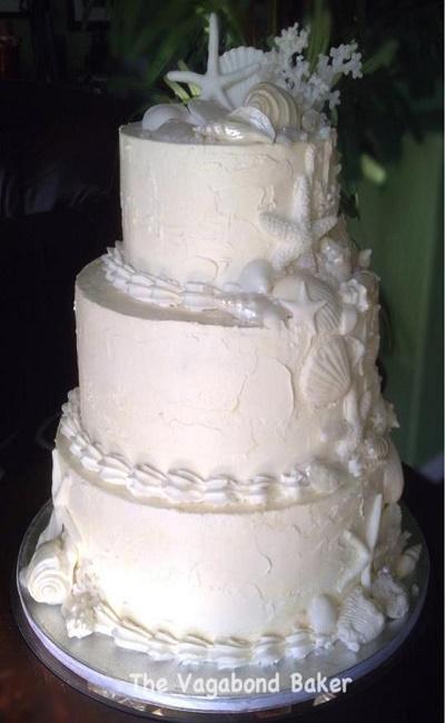pastel de boda para la playa