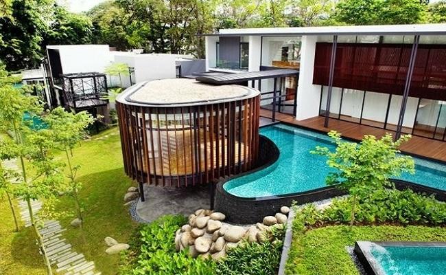 piscinas de lujo.