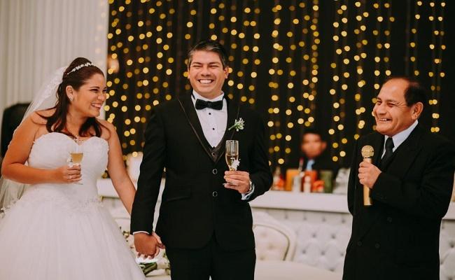 padrino de la boda. 2