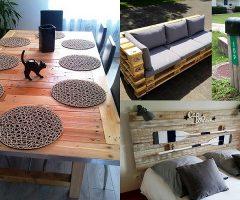 Proyectos de palets sin desmontar para decorar el hogar