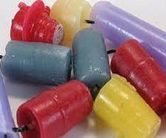 Velas de cera recicladas para fiestas de bricolaje