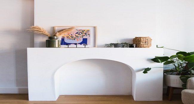 Construye una chimenea de arco para tu elegante sala