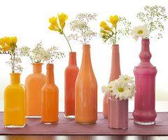 Crea hermosos jarrones pintados con esmalte de vidrio