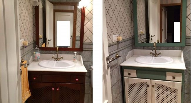 Renovar el gabinete del baño para un nuevo concepto