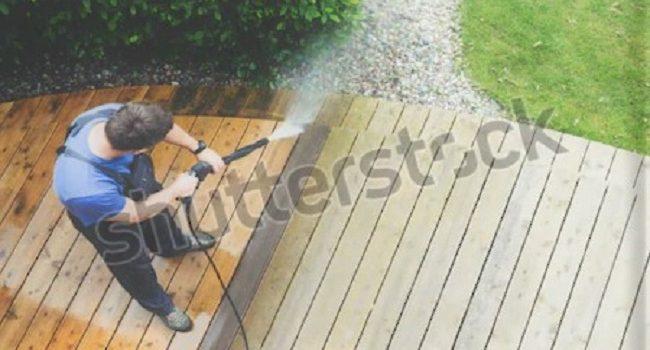 Cómo quitar las manchas de los patios y las cubiertas