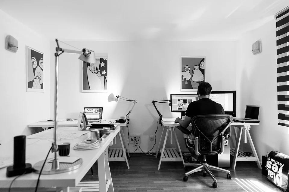 iluminación para la oficina en casa. 0
